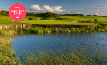 Galway Bay Golf Resort: 2 Green Fees + Tea/Coffee + Trolleys (57% OFF)